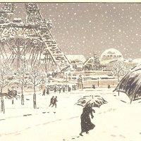 Keeping warm in a wintry Paris