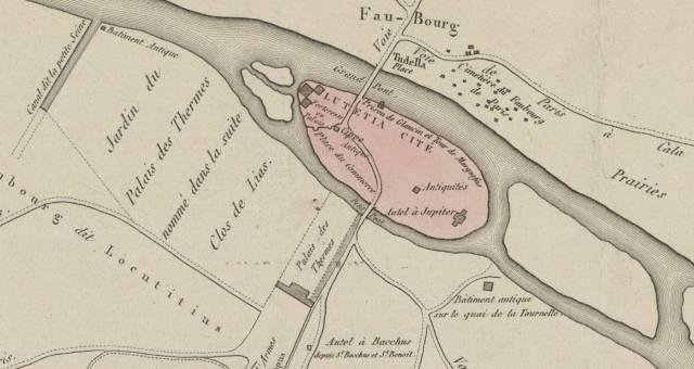Lutetia map