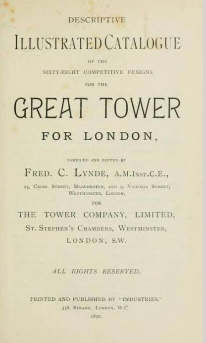 Book Title Page Great Tower of London