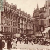 A city street, a lamppost